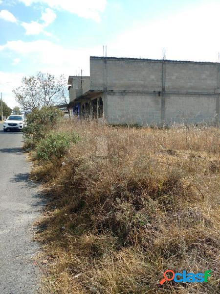 Terreno habitacional en venta en san pedro tlalcuapan de nicolás bravo, chiautempan, tlaxcala