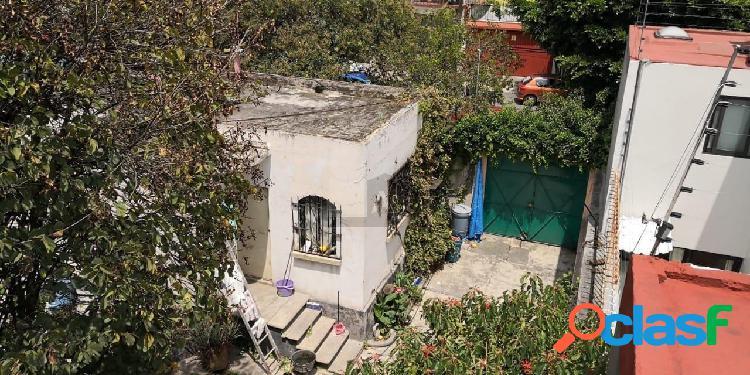 Terreno en venta en coyoacan centro, terreno en venta con construccion para remodelar, excelente opo