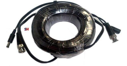 Cable siames bnc energia 20mts para camaras seguridad cctv