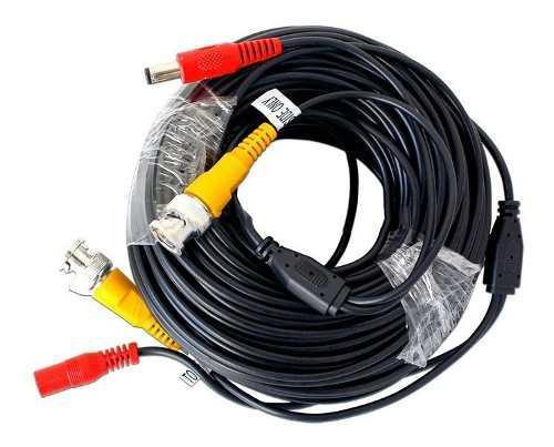 Cable siames coaxial 18.50m para camara cctv video voltaje