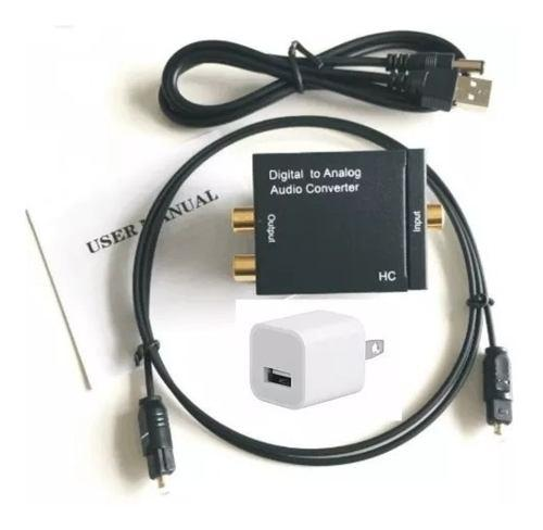 Convertidor de audio digital toslink optico a rca