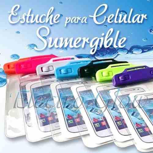 Funda contra agua manos libres iphone huawei sumergible