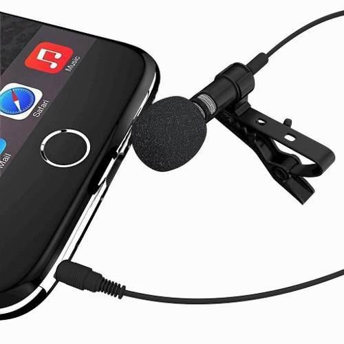 Micrófono solapa lavalier clip celulares calidad