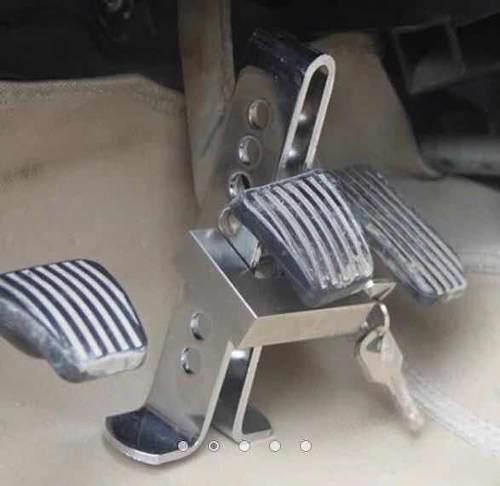 Seguro traba pedal auto antirrobo máxima seguridad candado