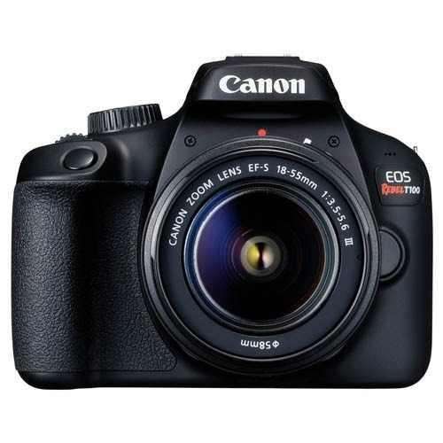 Canon camara canon eos rebel t100 ef-s 18-55mm f/3.5-5.6 iii