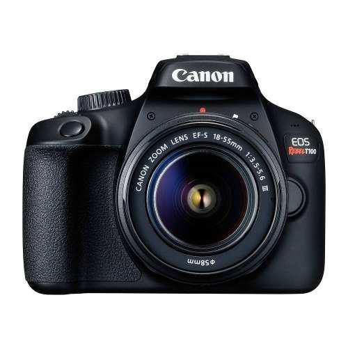 Cámara canon eos rebel t100 reflex lente 18 55 18mp 18msi