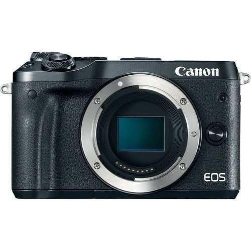 Cámara digital canon eos m6. negro. sólo cuerpo.