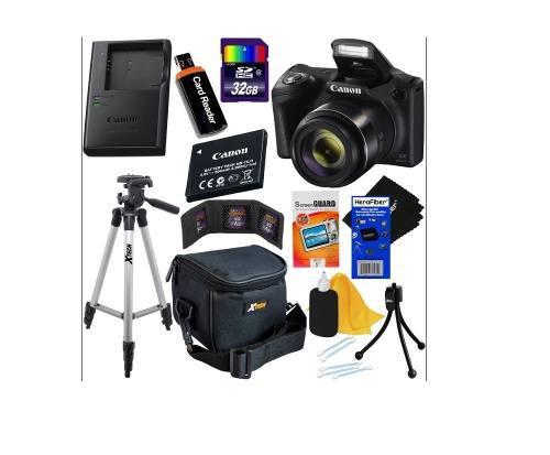 Kit cámara digital canon powershot sx420 is, 20mp, 42x