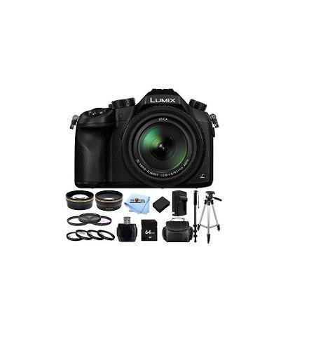 Kit cámara digital panasonic lumix dmc-fz1000 zoom de 4k