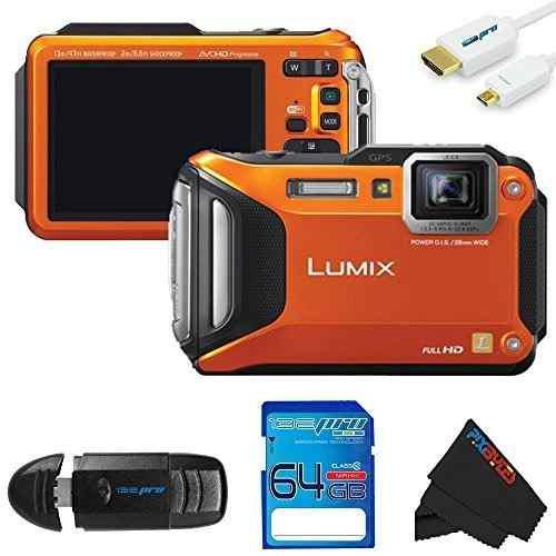 Panasonic lumix dmc-ts5 cámara digital (naranja) kit de
