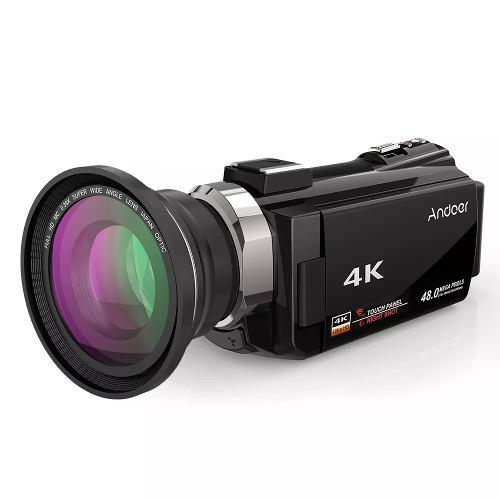 Videocamara digital andoer 4 k 1080mp wifi 48 mp