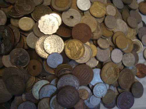 100 monedas extranjeras todas diferentes -