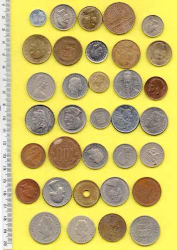 33 monedas mundo extranjeras diferentes 250g