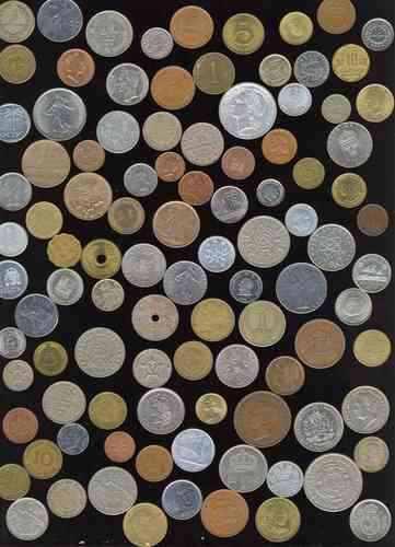 Coleccion de 101 monedas extranjeras