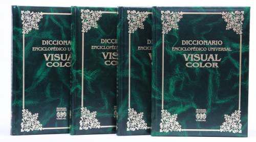 Diccionario enciclopédico universal 4 tomos visual color