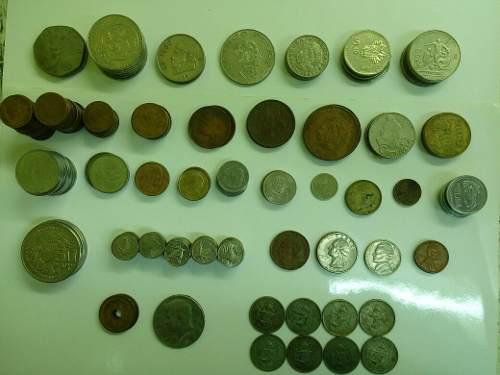 Lote de 187 monedas mexicanas y extranjeras