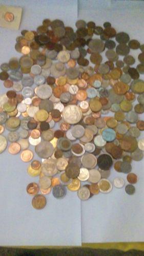 Lote de 329 monedas antiguas mexicanas y extranjeras