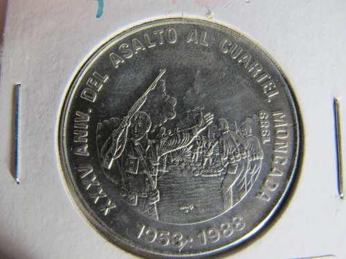 Moneda cuba 1 peso 1989 rev cubana moneda extranjera abc