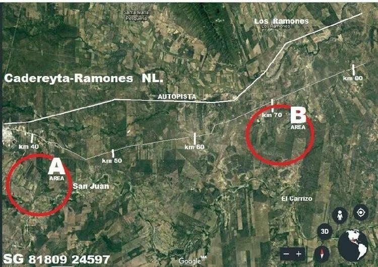 Terreno 500 hectáreas carretera reynosa km 70 cadereyta