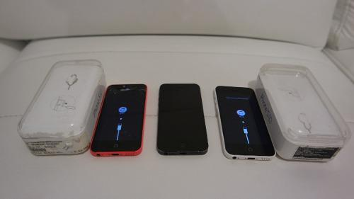 Iphone 5c rosa, iphone 5c blanco, iphone 5s negro c/u