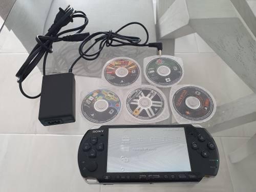 Sony psp seminuevo playstation portable 5 juegos originales