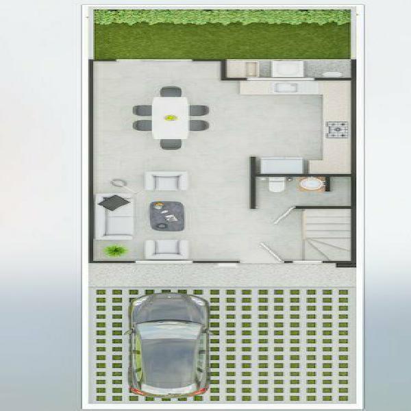 Casa de 3 recamaras con patio amplio en ojo de agua tecamac