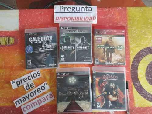 Lote juegos play 3