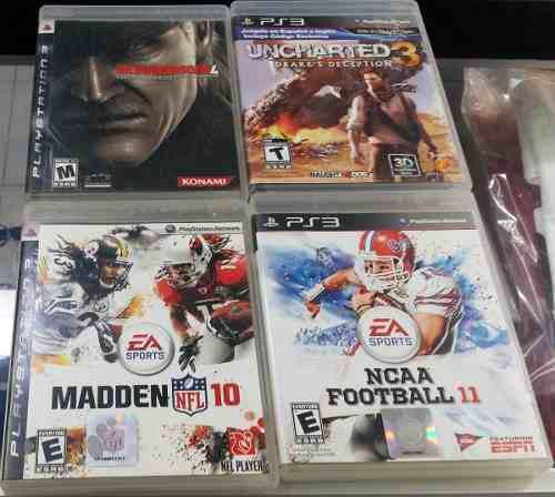 Lote juegos ps3 en excelente estado 4 juegos