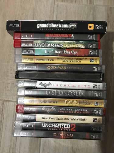 Lote juegos ps3 sellados.