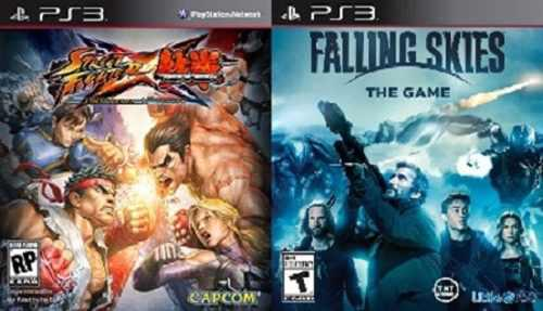 Street fighter vs tekken + falling skies the video game ps3