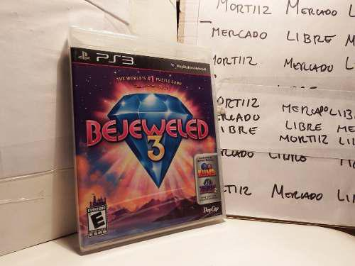 Videojuego Físico Ps3 Bejeweled 3 Puzzle Game Pop Cap Nuevo