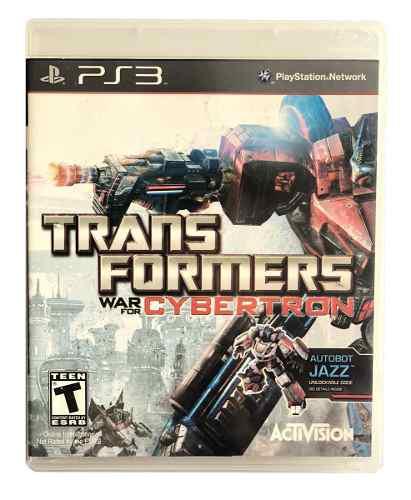 Videojuego transformers war for cybertron ps3 seminuevo!!