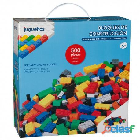 Empaca bloques de construccion, en su domicilio