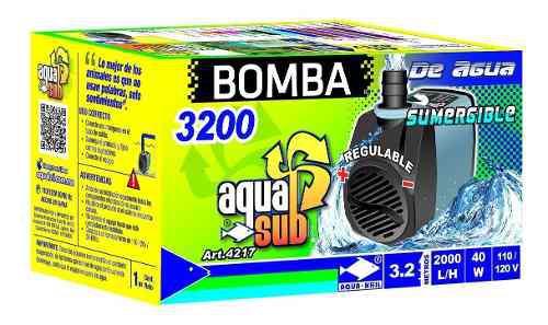 Bomba De Agua Sumergible 3.2m Acuario Fuente Muro 4217