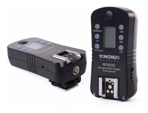 Kit 2 disparadores yongnuo rf605 para flash para canon