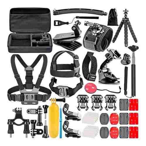50 en 1 Kit de Accesorios para cámara GoPro Hero 4 Session SJ5000X SJ4000 SJcam