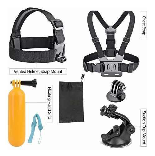 Kit 8 accesorios para cámara deportiva sjcam gopro g1