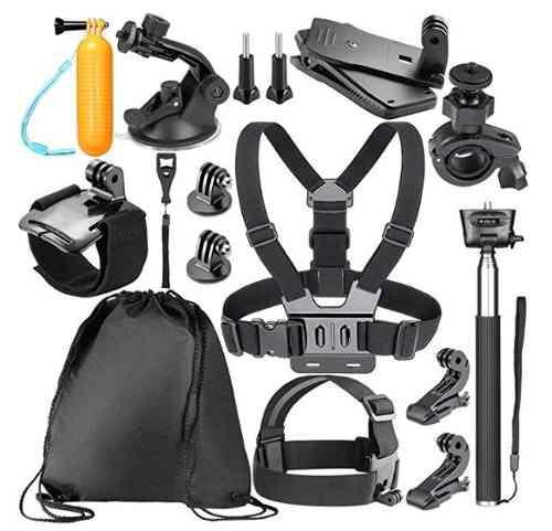 Kit accesorios 14-en-1 gopro hero 7/6/5 sj4000 5000 6000