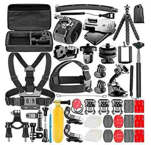 Kit accesorios 53-en-1 gopro hero 1/2/3/4/7 sj4000/5000/6000