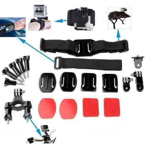 Kit de accesorios de cámara 20 en 1 para gopro hero