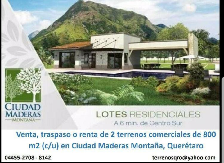Querétaro, El Marqués, Terreno Comercial de 800 m2 en