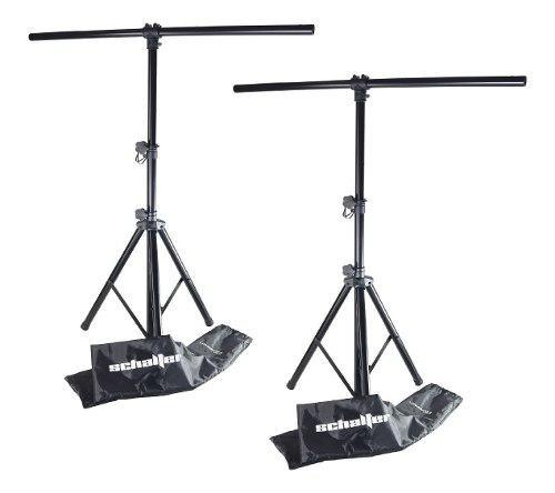 Stand tripie pedestal para luces led con funda pack 2 pz msi