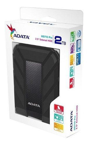 Disco duro externo adata hd710 pro 2tb 3.1 negro ahd710p-2t
