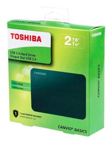 Disco duro externo toshiba canvio basics portátil 2tb 3.0