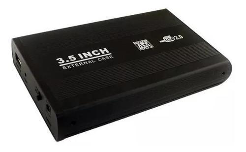 Gabinete case disco duro sata 3.5 pulgadas a usb 2.0 2tb hdd