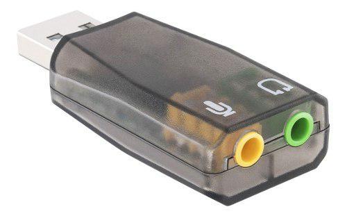 Tarjeta sonido usb 5.1 canales audio pc laptop /e
