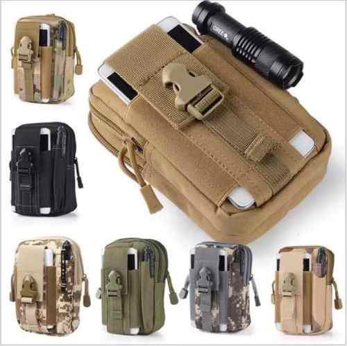 nuevo producto e204b 31f24 Bolsa Táctica Militar Para Celular Cámara Mochila Molle