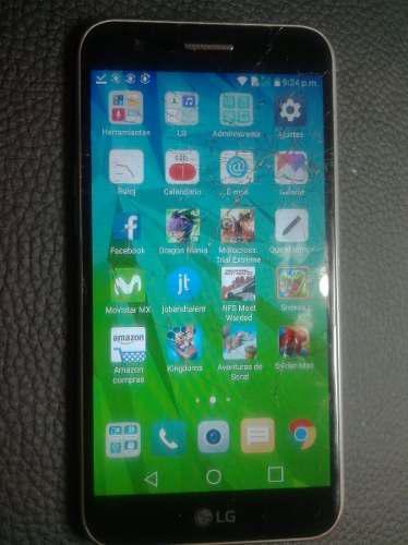 Lg k10 m250h (2017) 16 gb android 7 detalle en pantalla