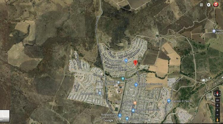 Se vende terreno dentro del desarrollo arvento para fines