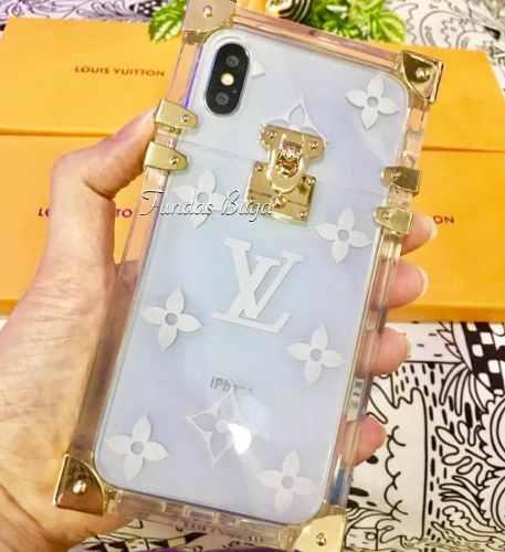 Funda Cofre Baul iPhone X Xs 6 7 Plus Tipo Louis Vuitton Lv